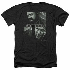 Billions Shirt Currency Poster Heather Black T-Shirt