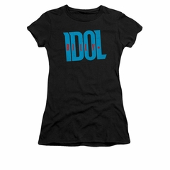 Billy Idol Shirt Juniors Logo Black T-Shirt