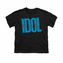 Billy Idol Shirt Kids Logo Black T-Shirt