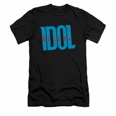 Billy Idol Shirt Slim Fit Logo Black T-Shirt