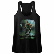 Bionic Commando Juniors Tank Top Damaged Road Black Racerback