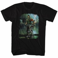 Bionic Commando Shirt Damaged Road Black T-Shirt