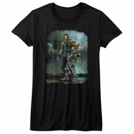 Bionic Commando Shirt Juniors Damaged Road Black T-Shirt