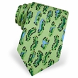 Birdie's Eye View Tie Green Silk Necktie – Mens Sports Neck Tie