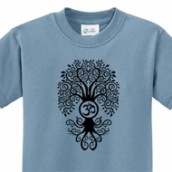 Black Bodhi Tree Kids Yoga Shirts