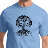 Black Celtic Tree Mens Yoga Shirts