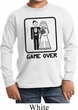 Black Game Over Kids Long Sleeve Shirt