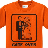 Black Game Over Kids Shirts