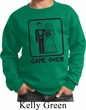 Black Game Over Kids Sweatshirt