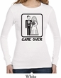 Black Game Over Ladies Long Sleeve Thermal Shirt