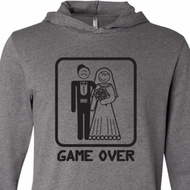 Black Game Over Lightweight Hoodie Tee