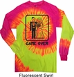 Black Game Over Long Sleeve Tie Dye Shirt