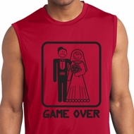 Black Game Over Mens Sleeveless Moisture Wicking Shirt