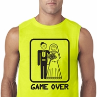 Black Game Over Mens Sleeveless Shirt