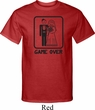 Black Game Over Mens Tall Shirt
