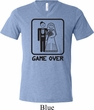 Black Game Over Mens Tri Blend V-neck Shirt
