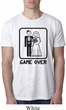 Black Game Over Mens White Burnout Shirt