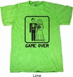 Black Game Over Mineral Tie Dye Shirt