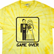 Black Game Over Spider Tie Dye Shirt