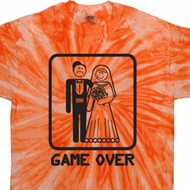 Black Game Over Twist Tie Dye Shirt