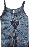 Black Heart Ladies Adult Mystical Tie Dye Tank Top
