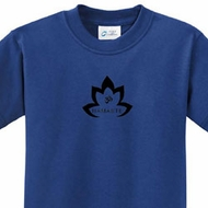 Black Namaste Lotus Kids Yoga Shirts