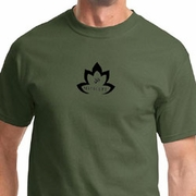Black Namaste Lotus Mens Yoga Shirts