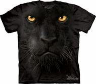 Black Panther Shirt Tie Dye Cat Face Adult T-shirt Tee