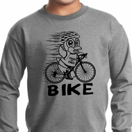 Black Penguin Power Bike Kids Long Sleeve Shirt