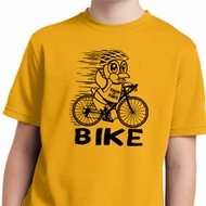 Black Penguin Power Bike Kids Moisture Wicking Shirt