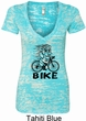 Black Penguin Power Bike Ladies Burnout V-neck Shirt