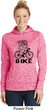 Black Penguin Power Bike Ladies Moisture Wicking Hoodie