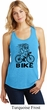 Black Penguin Power Bike Ladies Racerback Tank Top