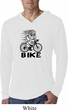 Black Penguin Power Bike Lightweight Hoodie Shirt
