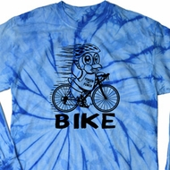 Black Penguin Power Bike Long Sleeve Tie Dye Shirt