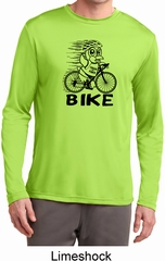 Black Penguin Power Bike Mens Moisture Wicking Long Sleeve Shirt