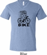 Black Penguin Power Bike Mens Tri Blend V-neck Shirt