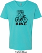 Black Penguin Power Bike Mens V-Neck Shirt