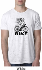 Black Penguin Power Bike Mens White Burnout Shirt