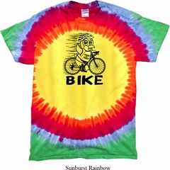 Black Penguin Power Bike Premium Tie Dye Shirt