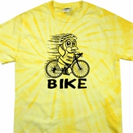 Black Penguin Power Bike Spider Tie Dye Shirt
