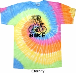 Black Penguin Power Bike Tie Dye Shirt