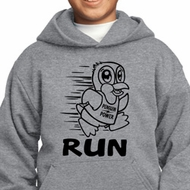 Black Penguin Power Run Kids Hoody