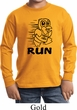 Black Penguin Power Run Kids Long Sleeve Shirt