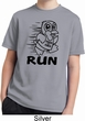 Black Penguin Power Run Kids Moisture Wicking Shirt