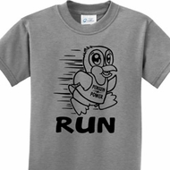 Black Penguin Power Run Kids Shirt