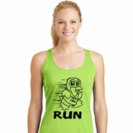 Black Penguin Power Run Ladies Dry Wicking Racerback Tank Top