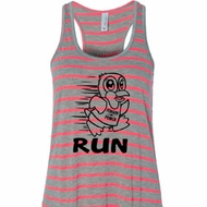 Black Penguin Power Run Ladies Flowy Racerback Tanktop