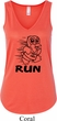 Black Penguin Power Run Ladies Flowy V-neck Tanktop
