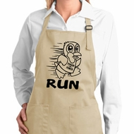 Black Penguin Power Run Ladies Full Length Apron with Pockets
